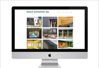 Ny webbplats åt bleck arkitekter ab